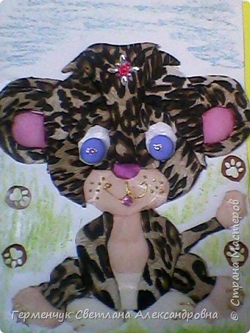 В интернете увидела технику создания  объемных картин  из картона и ткани -осиэ. Решила попробовать. Рисунок выбрала большой, чтобы было удобнее приклеивать детали . Их получилось 32.  фото 5