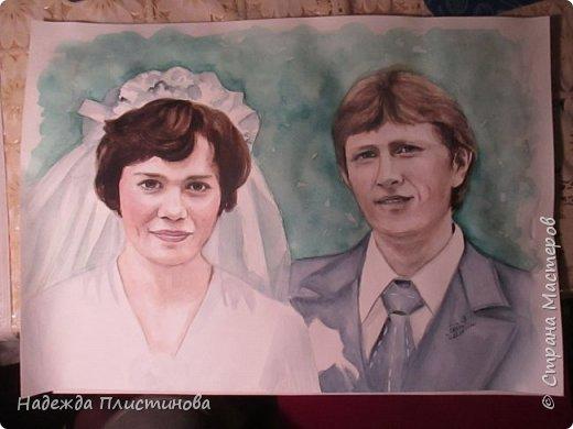 Семейный портрет акварелью 17 фото 1
