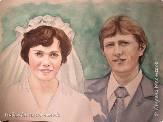 Семейный портрет акварелью 17 фото 2