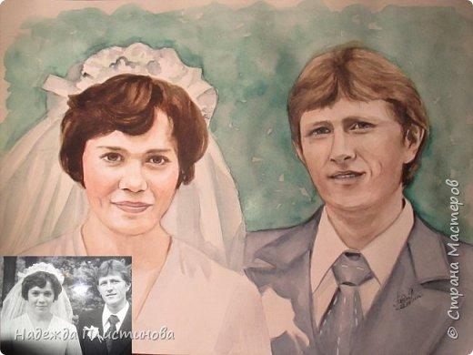 Семейный портрет акварелью 17 фото 9