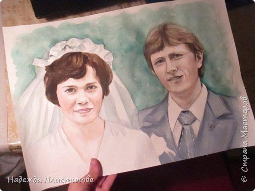 Семейный портрет акварелью 17 фото 6