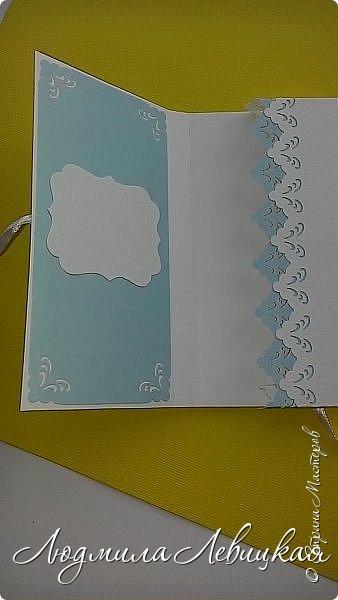 """Здравствуйте, всем заглянувшим! Придумалось у меня еще три шоколадницы... Первая: основа- бумага для акварели, верх-бумага для скрапбукинга """"Пастель"""" (200 гр./м плотностью; красивого голубого цвета, который на фото не хочет передаваться), цветочки и листочки самодельные. фото 4"""