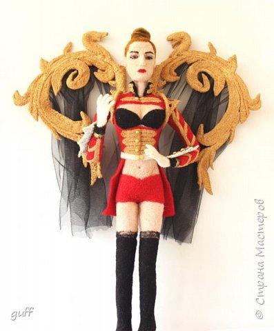 Портретная кукла из шерсти фото 2