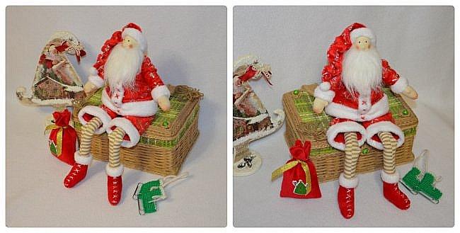 Всем Привет! А я к Вам Сегодня с Частичкой Нового Года- Встречайте Санта Клаус!!! Новый Год ведь не за Горами  и я к нему понемногу готовлюсь)))  Санта Ростом 33 см! Может сидеть Самостоятельно Свесив Ножки! Такой он Новогодний Вышел!!!!!!!! Ну Очень Он Мне Нравится))) фото 4