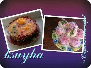 Воздушный фруктовый тортик и сладенькие песочные персики фото 1