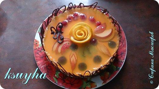 Воздушный фруктовый тортик и сладенькие песочные персики фото 4