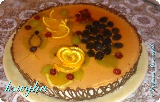 Воздушный фруктовый тортик и сладенькие песочные персики фото 3