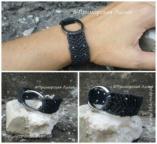 """Этот браслет я назвала """"Эко"""", он двухсторонний. Вощеный шнур х/б и деревянные бусины. фото 6"""