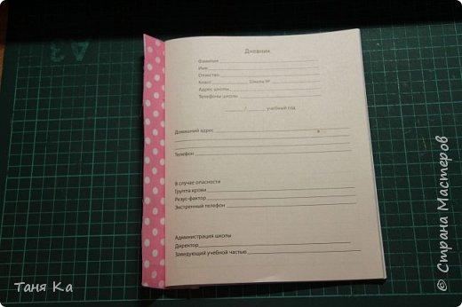 Школьный дневник в новой обложке. МК фото 11
