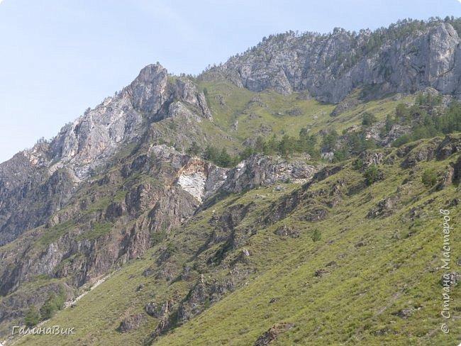Итак, следуя по Чемальскому тракту, в ходе обзорной экскурсии был предложен для просмотра очень интересный (загадочный!!!) горный объект - огромный валун, застрявший в ущелье. И зовется этот камень Баатыр-Таш, что в переводе означает Богатырь-камень. фото 1