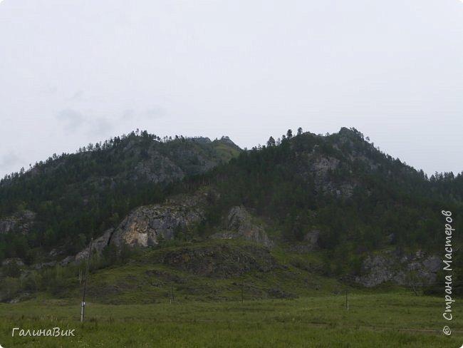 Итак, следуя по Чемальскому тракту, в ходе обзорной экскурсии был предложен для просмотра очень интересный (загадочный!!!) горный объект - огромный валун, застрявший в ущелье. И зовется этот камень Баатыр-Таш, что в переводе означает Богатырь-камень. фото 22