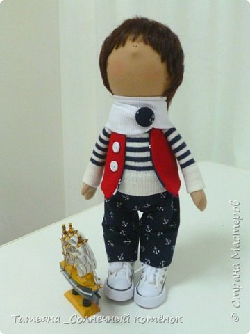 Текстильная куколка-мальчик Матвей фото 3
