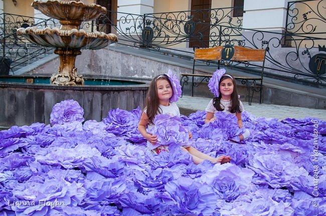 Цветы  с диаметром 45см 120штук  для фотопроекта Анастасии Панеевой  https://vk.com/paneeva фото 3