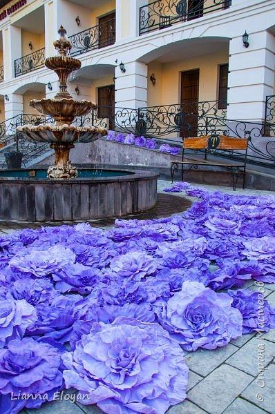 Цветы  с диаметром 45см 120штук  для фотопроекта Анастасии Панеевой  https://vk.com/paneeva фото 7