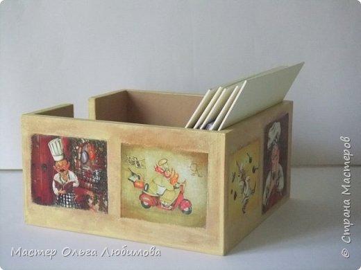 Коробочка для кулинарных рецептов с блокнотом (набор) фото 3