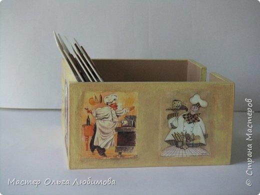 Коробочка для кулинарных рецептов с блокнотом (набор) фото 5