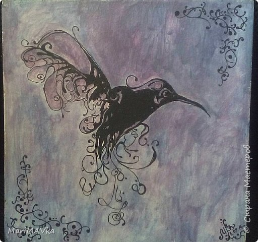 Из архива...Рисовала давно, но радует по сей день!  Акриловые краски, а вот на чем нарисовала, не помню название. Похоже на фанеру (твердая). Но видно на торце, что волокна, вроде опилок или бумаги, как спрессованные. Кто подскажет название?