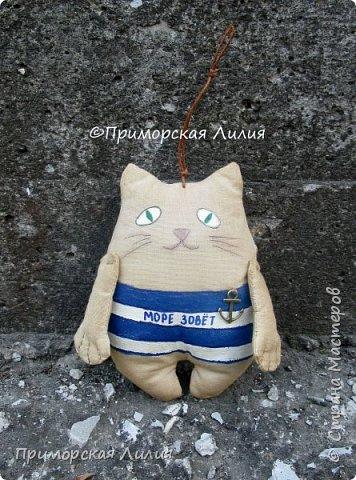 А у меня снова морская тема. На этот раз, сувенирные котики с легким ароматом кофе. фото 2