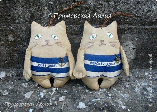А у меня снова морская тема. На этот раз, сувенирные котики с легким ароматом кофе. фото 1