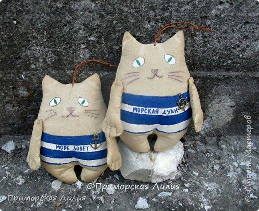 А у меня снова морская тема. На этот раз, сувенирные котики с легким ароматом кофе. фото 4