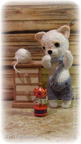Соскучилась я что-то по крючку и ниточкам.... И вот что у меня навязалось....))) Зовут нас Снежок... Мы прям породистые-породистые чихуахуа... Правда еще маленькие... Зато очень мягкие, плюшевые и добрые...))))) фото 3