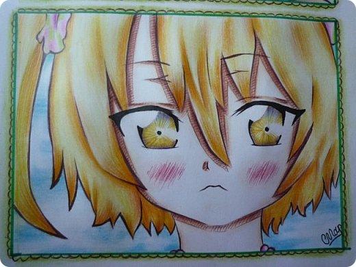 """Знакомьтесь! Это - Идзуми Сена, персонаж аниме """"Любовная сцена""""   Думаю, многим анимешникам известен такой стиль - две картинки, одна под другой, один и тот же персонаж, только разные эмоции или движения. фото 3"""