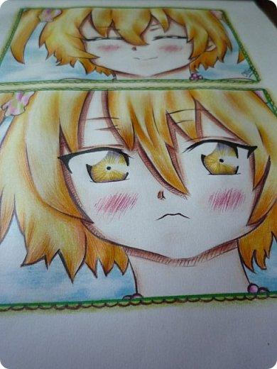 """Знакомьтесь! Это - Идзуми Сена, персонаж аниме """"Любовная сцена""""   Думаю, многим анимешникам известен такой стиль - две картинки, одна под другой, один и тот же персонаж, только разные эмоции или движения. фото 7"""
