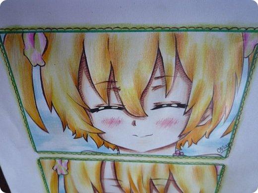 """Знакомьтесь! Это - Идзуми Сена, персонаж аниме """"Любовная сцена""""   Думаю, многим анимешникам известен такой стиль - две картинки, одна под другой, один и тот же персонаж, только разные эмоции или движения. фото 9"""