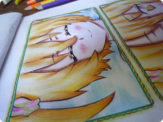 """Знакомьтесь! Это - Идзуми Сена, персонаж аниме """"Любовная сцена""""   Думаю, многим анимешникам известен такой стиль - две картинки, одна под другой, один и тот же персонаж, только разные эмоции или движения. фото 11"""