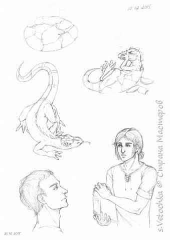 Часть рисунков выполнено карандашом и маркерами на бумаге, а часть в графическом редакторе. фото 14