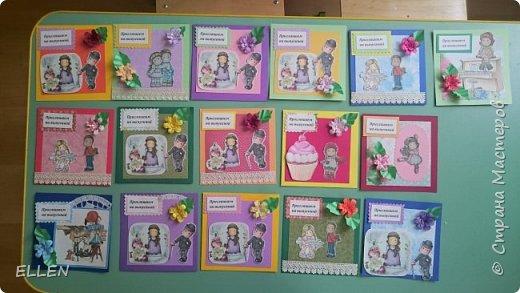 Вот такие коробочки с открытками-благодарностями для воспитателей были сделаны на выпуской в детском саду. фото 4