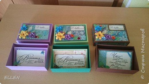Вот такие коробочки с открытками-благодарностями для воспитателей были сделаны на выпуской в детском саду. фото 3