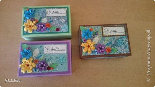Вот такие коробочки с открытками-благодарностями для воспитателей были сделаны на выпуской в детском саду. фото 2