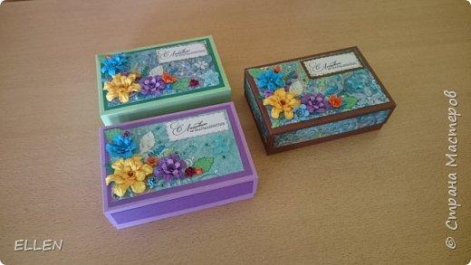 Вот такие коробочки с открытками-благодарностями для воспитателей были сделаны на выпуской в детском саду. фото 1
