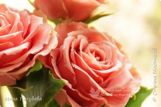 """Девочки,привет! Заказали мне вот такие розы кораллового цвета. Как я получила такой цвет,я покажу и расскажу) А еще сегодня планирую выложить мастер- класс по половинке лимона- апельсина( почти дофоткала). Не пропустите,так как он попадает в раздел """" Поделка,изделие"""" и высвечиваться в данном разделе не будет) фото 9"""