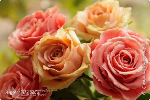 """Девочки,привет! Заказали мне вот такие розы кораллового цвета. Как я получила такой цвет,я покажу и расскажу) А еще сегодня планирую выложить мастер- класс по половинке лимона- апельсина( почти дофоткала). Не пропустите,так как он попадает в раздел """" Поделка,изделие"""" и высвечиваться в данном разделе не будет) фото 10"""