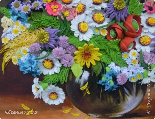 Букет полевых цветов фото 6