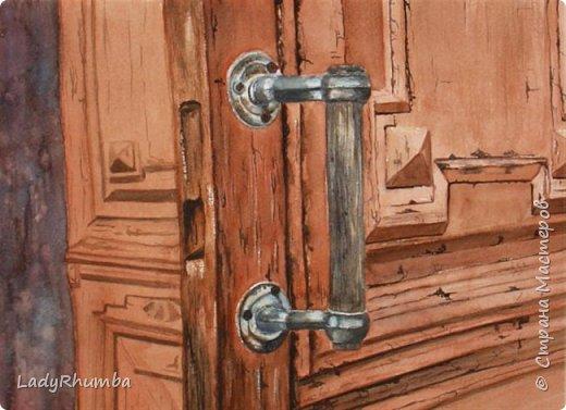Всем добра!   Сегодня покажу некоторые из моих не совсем стандартных акварелей и другие рисунки. Эту дверь рисовала по фото, акварелью, а потом прорисовывала черной тушью. Этакая проба пера - на нее меня вдохновила одна местная художница, которая любит рисовать ржавые железки всякие.  фото 1