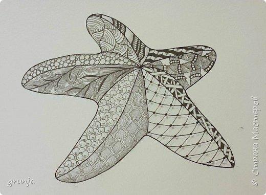 Мои рисунки в технике Зентарт фото 1