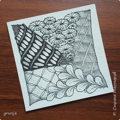 Мои рисунки в технике Зентарт фото 2