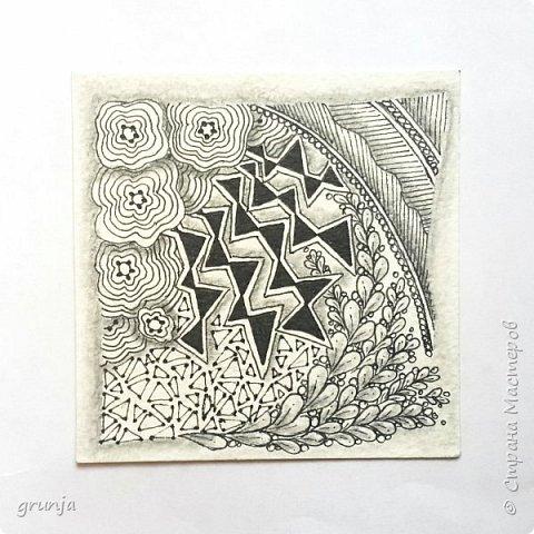 Мои рисунки в технике Зентарт фото 3