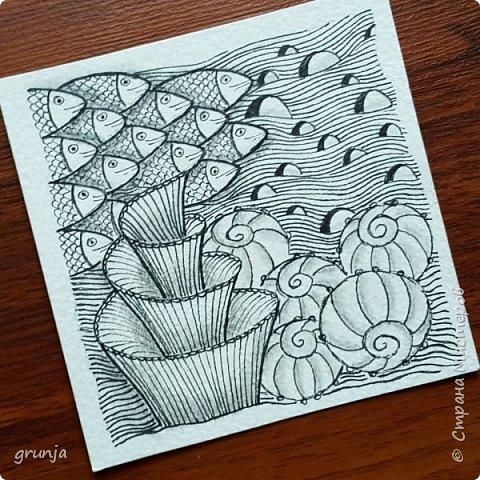 Мои рисунки в технике Зентарт фото 4