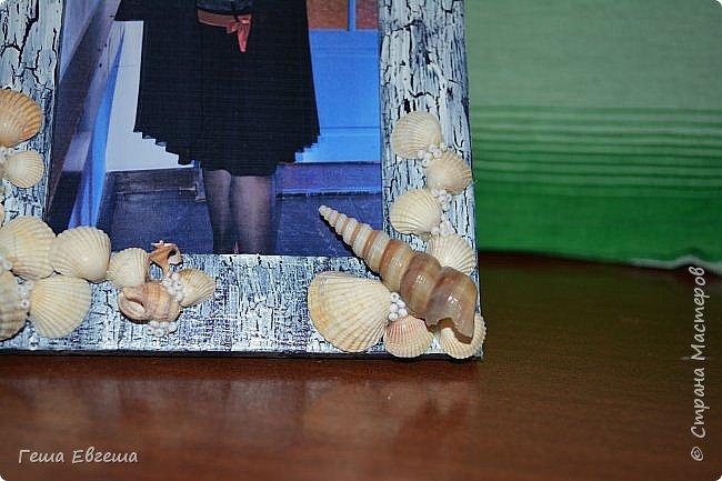 Вот такая рамочка родилась в 2012 после поездки в Черному морю, в чудесный город Геленджик. Фото этой работы были так же утеряны как кораблика в предыдущем блоге http://stranamasterov.ru/node/1046641. Рамочка делалась в подарок сослуживице, Фотку свою вставила для наглядности. фото 3