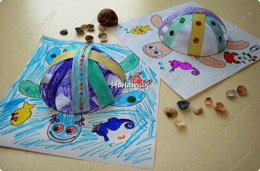 Доброй ночи! Сделали мы с дочуркой таких вот черепашек. Алина делала свою, а я свою) Ну нравится мне творить с ребенком)!!! Идея и шаблон с сайта КРОКОТАК. фото 1
