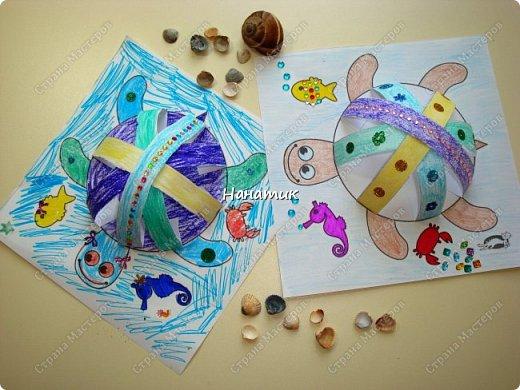 Доброй ночи! Сделали мы с дочуркой таких вот черепашек. Алина делала свою, а я свою) Ну нравится мне творить с ребенком)!!! Идея и шаблон с сайта КРОКОТАК. фото 5