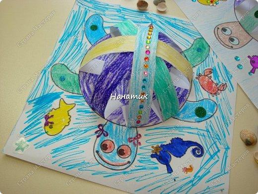 Доброй ночи! Сделали мы с дочуркой таких вот черепашек. Алина делала свою, а я свою) Ну нравится мне творить с ребенком)!!! Идея и шаблон с сайта КРОКОТАК. фото 3