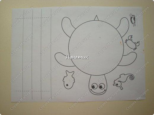 Доброй ночи! Сделали мы с дочуркой таких вот черепашек. Алина делала свою, а я свою) Ну нравится мне творить с ребенком)!!! Идея и шаблон с сайта КРОКОТАК. фото 2