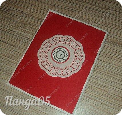 Здравствуйте. Маленький заказик у меня образовался. Новая открытка в красном цвете ко дню рождения женщины 40 лет. Основным условием был именно красный цвет,остальное на мое усмотрение. фото 9