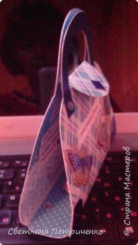 Сегодня у моей лучшей подруги день рождения. Зная о том, что она хочет новую сумку, появилась идея сделать открытку в виде сумочки.  фото 3