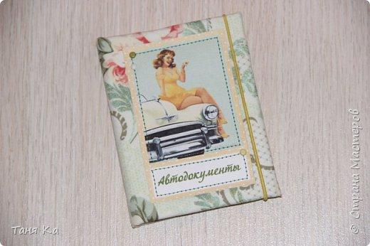 Всем привет! Сегодня покажу обложки для паспорта, автодокументов и школьного дневника)  Обложки на паспорт и автодокументы заказала мне девушка. Картинки выбирала она сама.Ткань мы тоже с ней обговаривали. Это обложка на автодокументы. фото 1